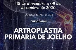 18 de novembro - Curso online Artrosplatia Primária do Joelho