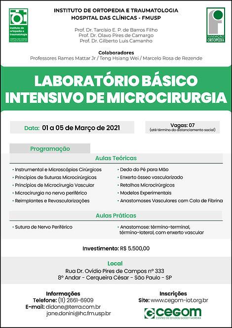 01 a 05 de Março - Curso Básico Intensivo de Microcirurgia