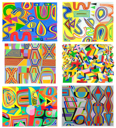 "6 Prints..""Revival.."", ""La Graine"", ""XX"", ""Chaos"", ""Arrow.."" & ""Pulsation"""