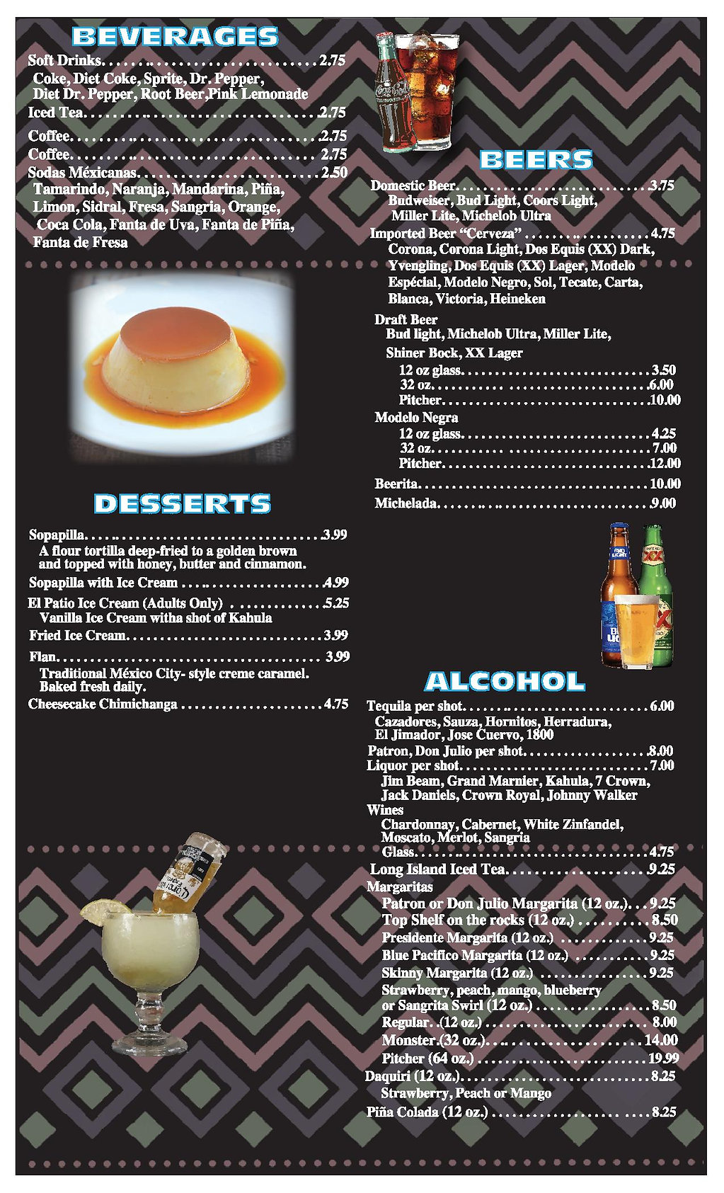 El Patio Shreveport menu pg 6 2020 OUTLI