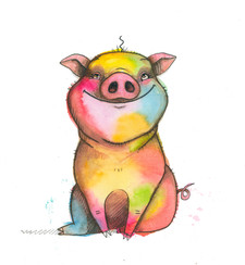 Christmas the rainbow pig.jpg