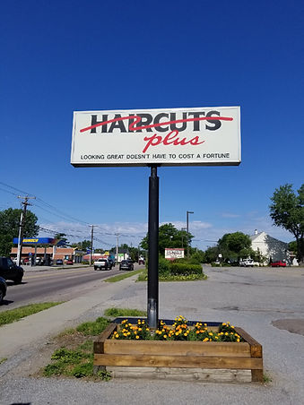 haircuts plus sign