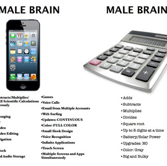 BRAINS! The first of the three overarching reasons why women are superior to men.