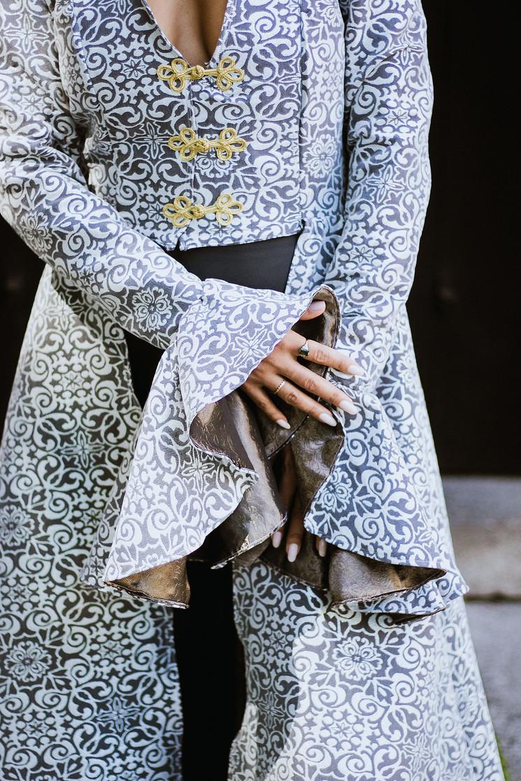 Silver Jacquard Jacket
