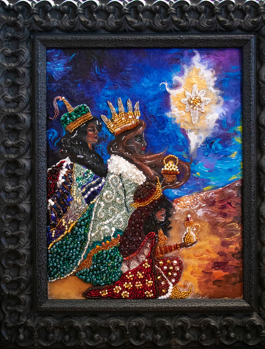Las Tres Reinas Magas, with frame