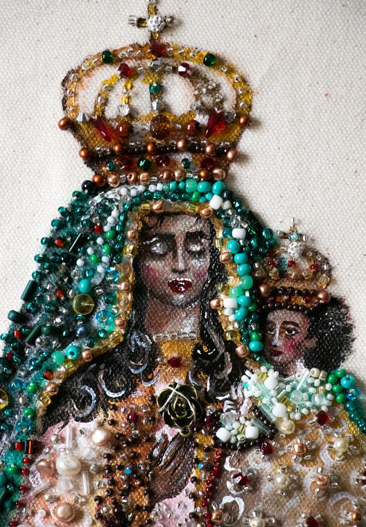 Black Madonna col Bambino (detail)
