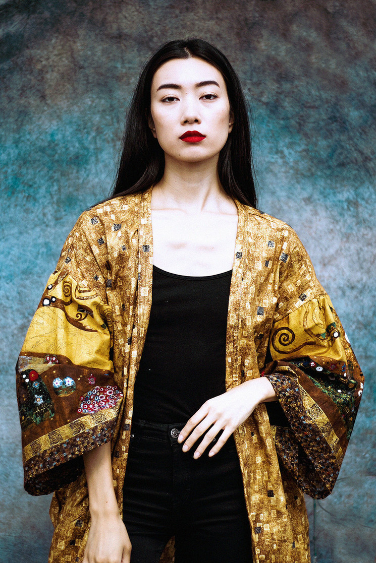 Klimt-Inspired Kimono