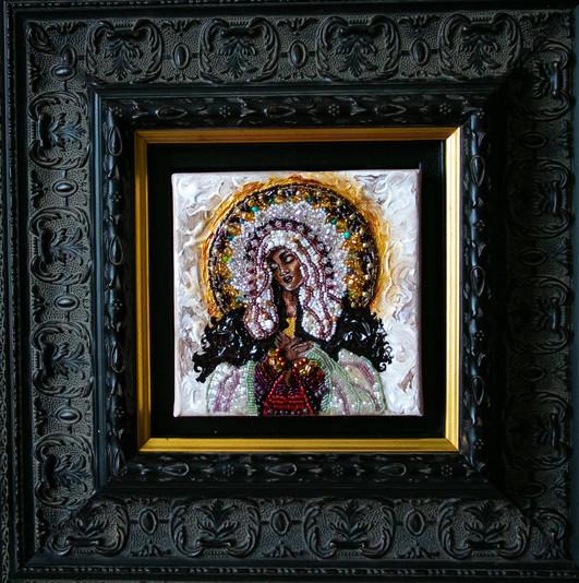 Black Madonna with frame