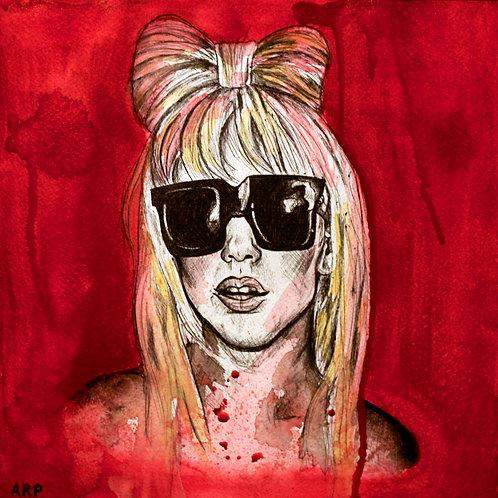 """12"""" x 12""""Pop Culture Watercolor"""