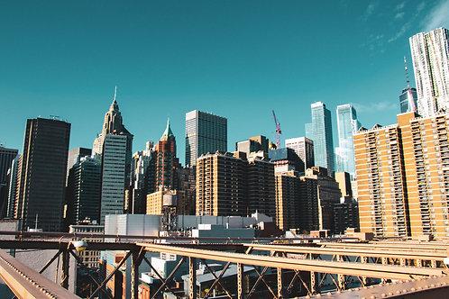 "8""x 10"" Pearl Photographic Print - NYC Skyline View from Brooklyn Bridge"