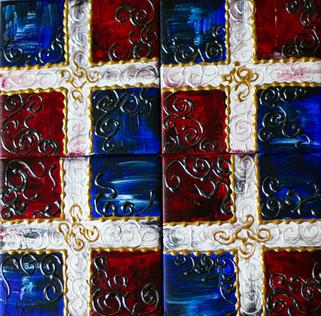 Quisqueya - Acrylic paint on ceramic tiles