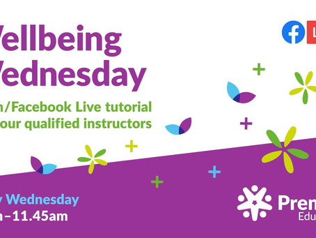 Wellbeing Wednesday - Live Tutorial with Premier Education