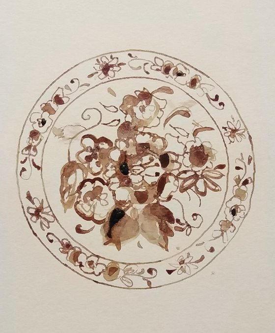 Memento mori, ספיר גל, sapir gal, Flower, Watercolor, drawing