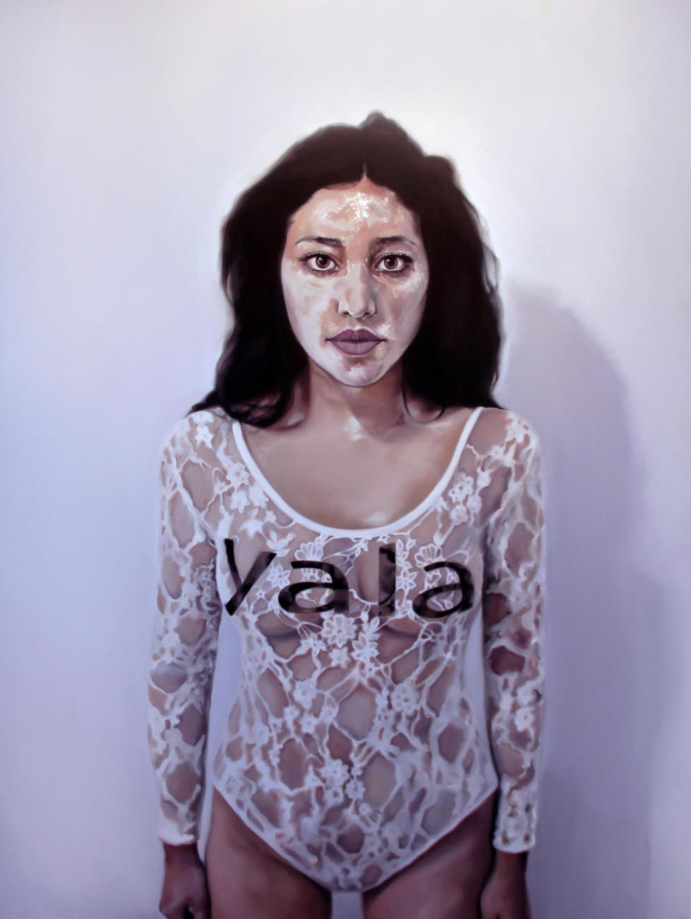 Self Portarait With Sugar Powder, Oil On Canvas, 145X110, 2017