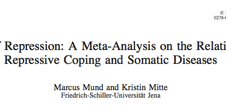 The Costs of Repression: A Meta-Analysis on the Relation Between Repressive Coping and Somatic Disea