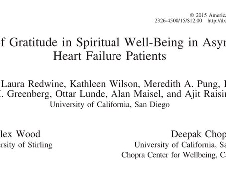 The Role of Gratitude in Spiritual Well-being