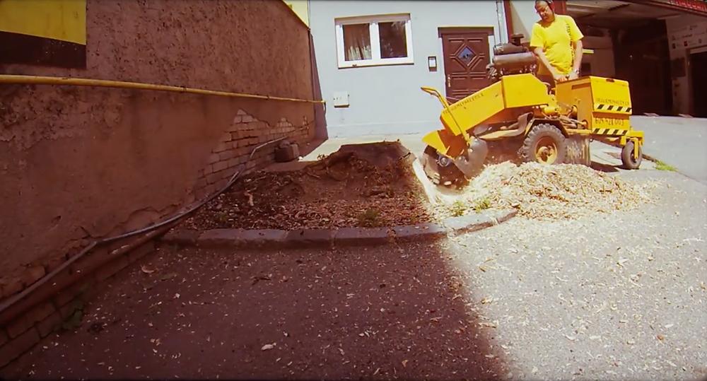 Odstranění a likvidace pařezů pneuservis Pavlík