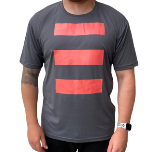 S3LF Men's 3 Bars Charcoal T-Shirt