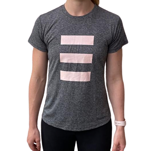 S3LF Women's 3 Bars Grey T-Shirt