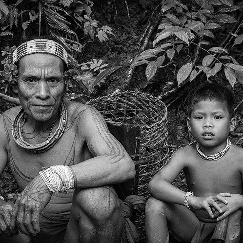 Père et fils Mentawai