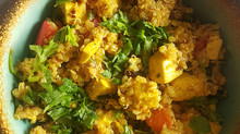 A Serve Vegan Recipe: CURRIED TOFU QUINOA BOWL