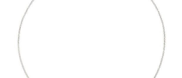 Catenina in oro bianco cm 40