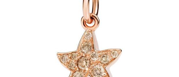 Stellina diamanti brown - Chi mi trova è felice