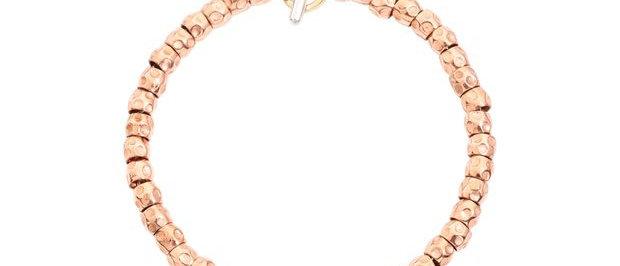 Bracciale granelli oro rosa