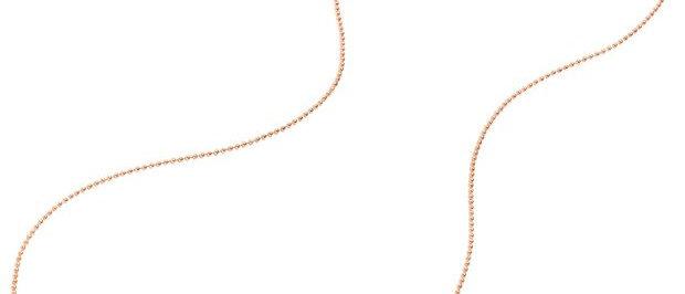 Collana bollicine oro rosa cm 40