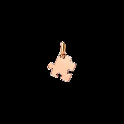 Ciondolo puzzle oro rosa