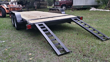 7'x18' Car hauler Equipment Trailer