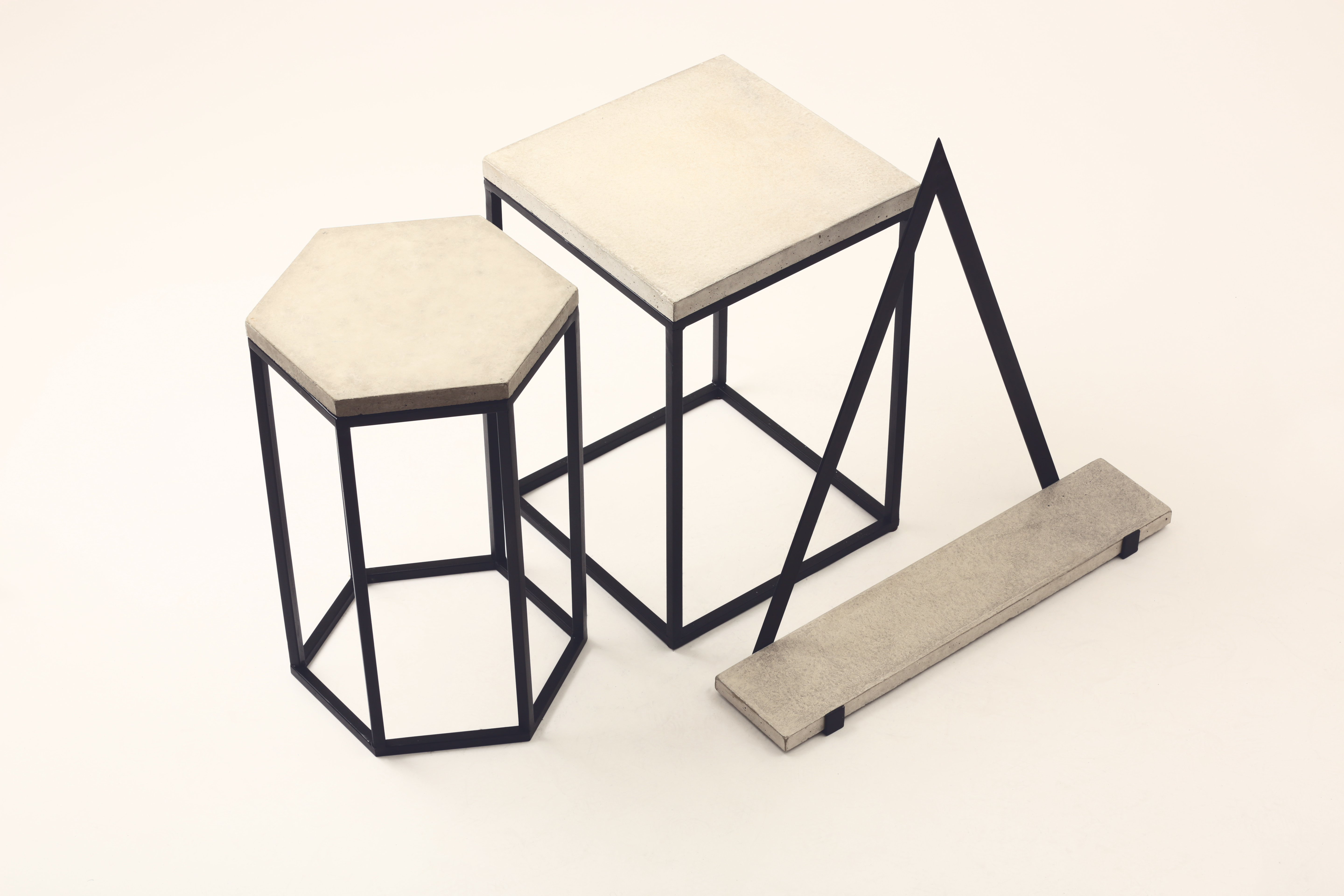 Concrete and Metal furniture