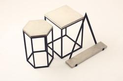 Concrete and Metal furniture