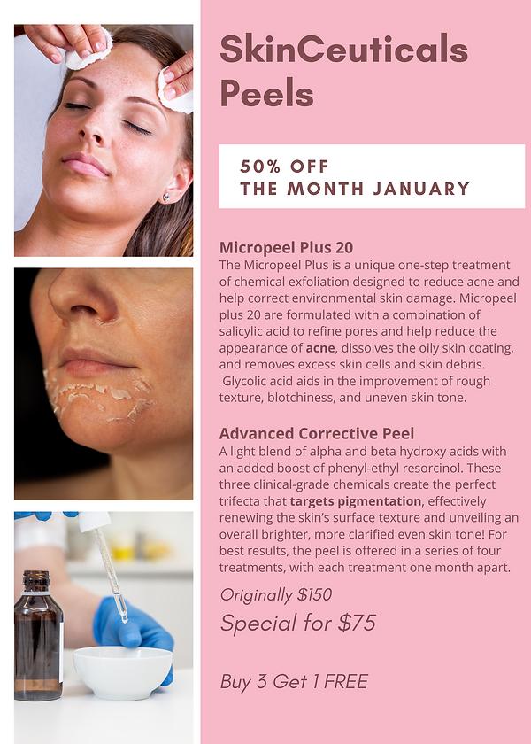 Pink Brown Photo Modern Skincare Flyer.p