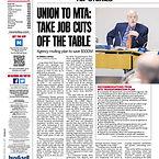 072219 Newsday - MTA Reform Plan Job Cut