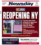 042720 Newsday Cover - Reopening NY (COV
