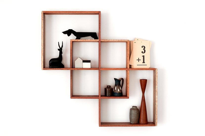 3 Box Shelf / Shadow Box Meranti