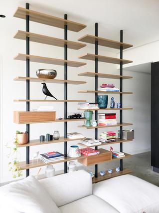 American White Oak Custom Display Shelves