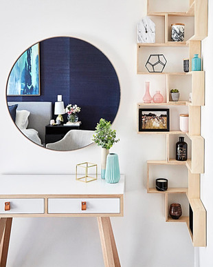 Plywood Corner Shelves