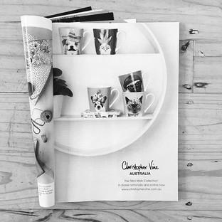 Circular Shelf showing Christopher Vine's gorgeos mugs.