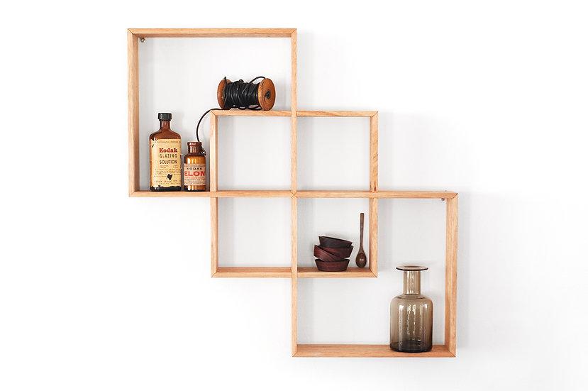3 Box Shelf / Shadow Box Oak