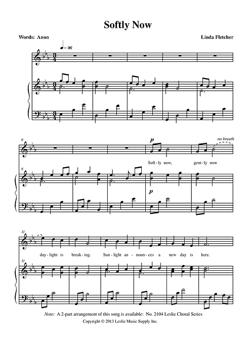 Softly Now (Eb major)