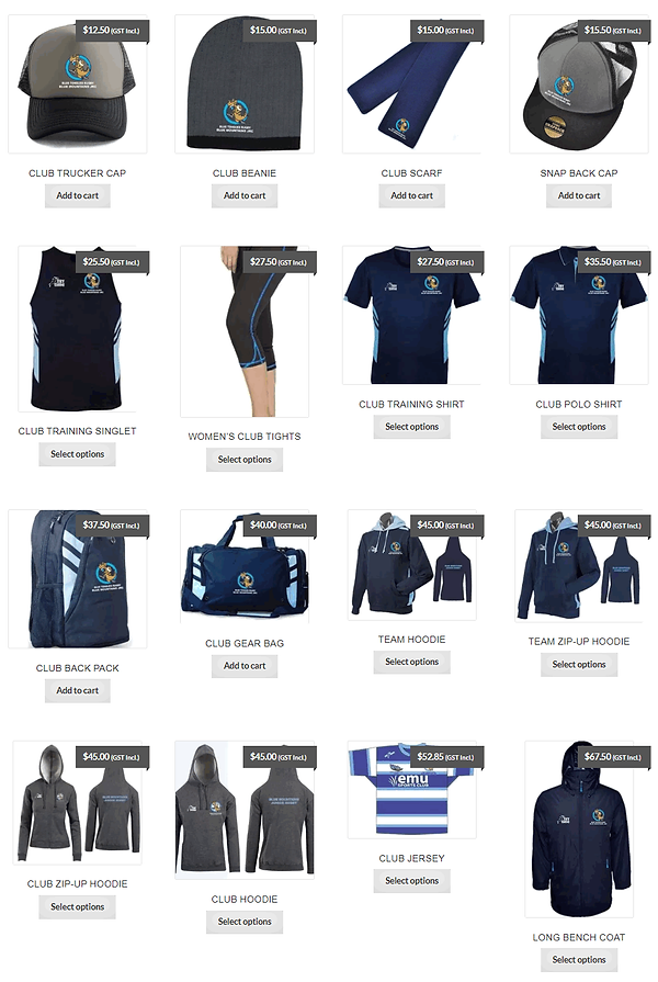 Blue Mountains Junior Rugby Shop