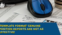 'Template Format' Genuine Position Report?