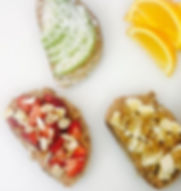 New at the JuiceBar_ breakfast toast! _Try our new bread with peanut- or almond butter, topped with