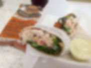Grab a wrap! Lunch from now until 2pm. We are serving sandwiches and salads as well.jpg