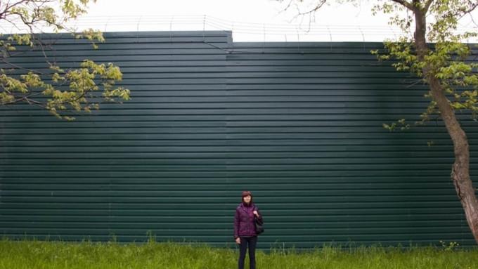 сосед установил высокий забор