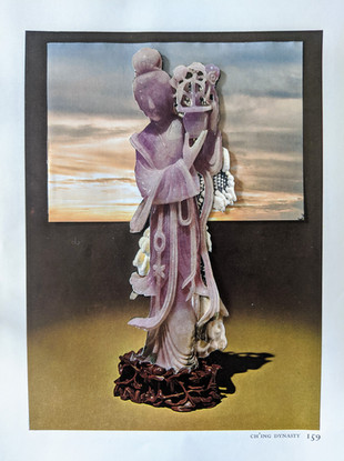 "Bodhisattva, 2020. Paper collage. 9.5""x7"""