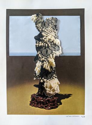 "Anti-Bodhisattva, 2020. Paper collage. 9.5""x7"""