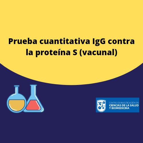 Cuantitativa IgG contra proteína S